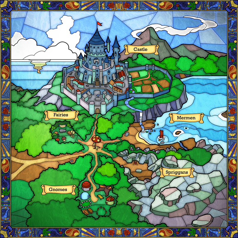 Stained Glass Windows - Fantasy Map
