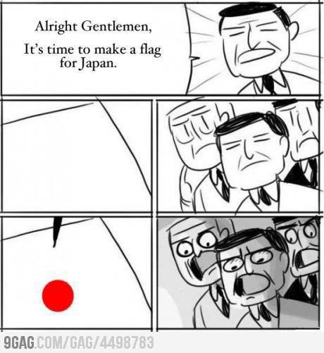 meme japan flag